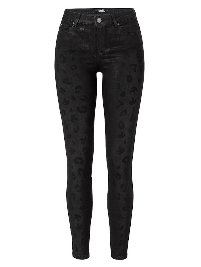 Karl Lagerfeld Skinny-Jeans, Grau