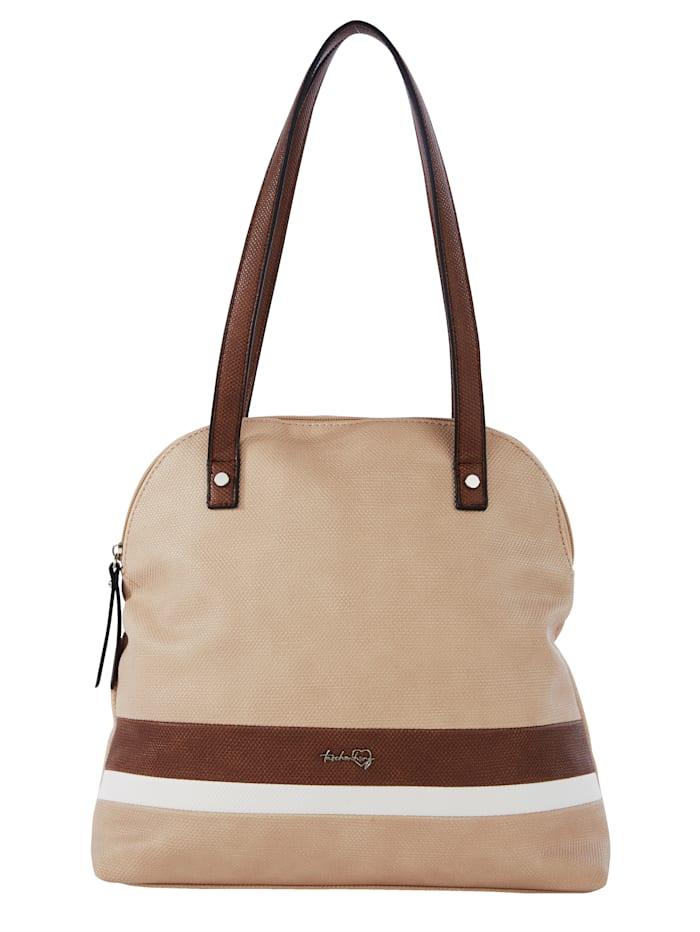 Taschenherz Shopper in harmonischer Farbgebung, beige/braun