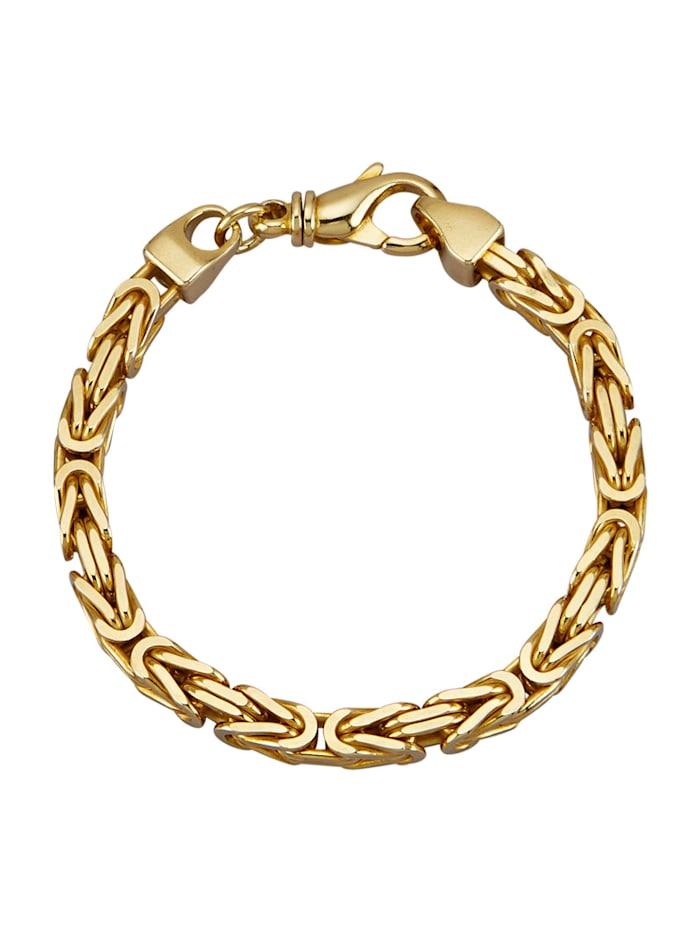 Amara Or Bracelet maille royale en argent 925, doré, Coloris or jaune