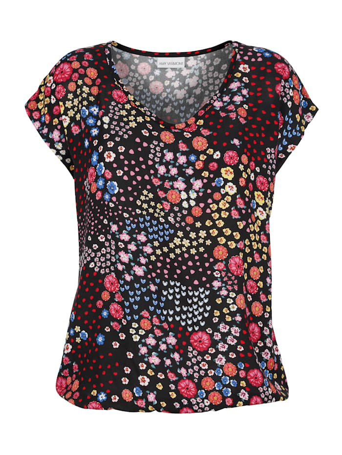 Shirt met bloemenpatroon rondom