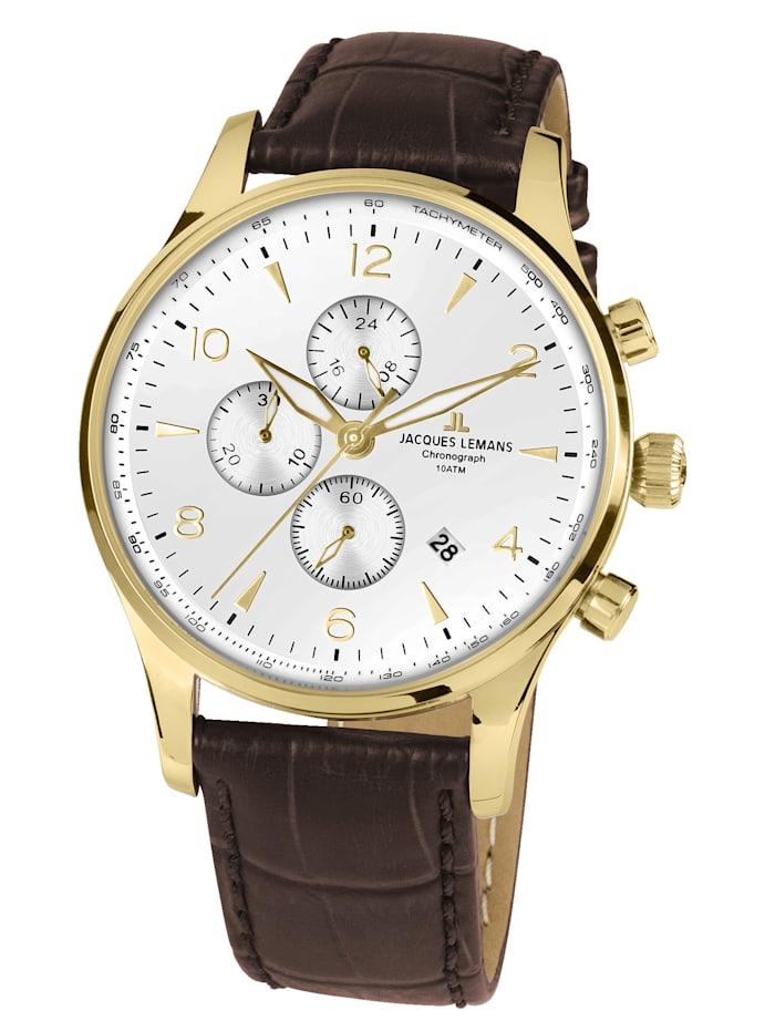 Jacques Lemans Herren-Chronograph Uhr SERIE LONDON 1-1844ZD, Braun
