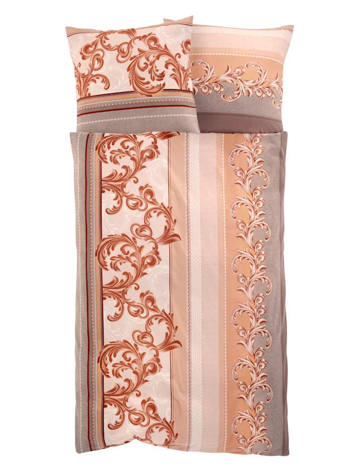 Webschatz 2-delige set bedlinnen Franka, bruin