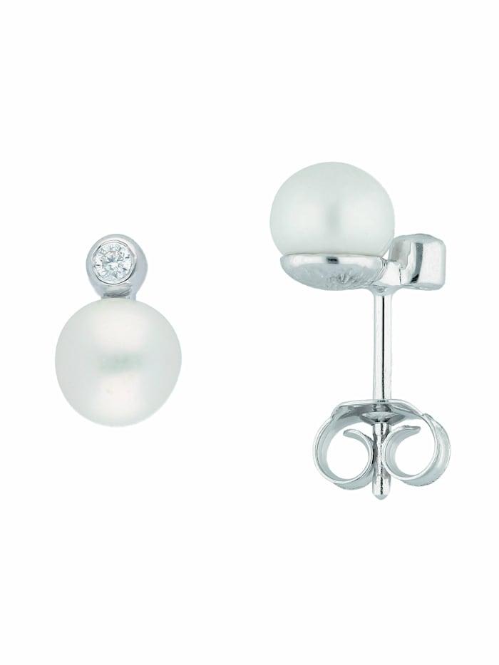 1001 Diamonds 1001 Diamonds Damen Silberschmuck 925 Silber Ohrringe / Ohrstecker mit Zirkonia, silber
