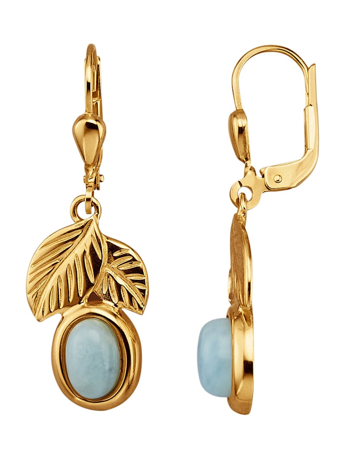 Ohrringe mit Aquamarin, Blau