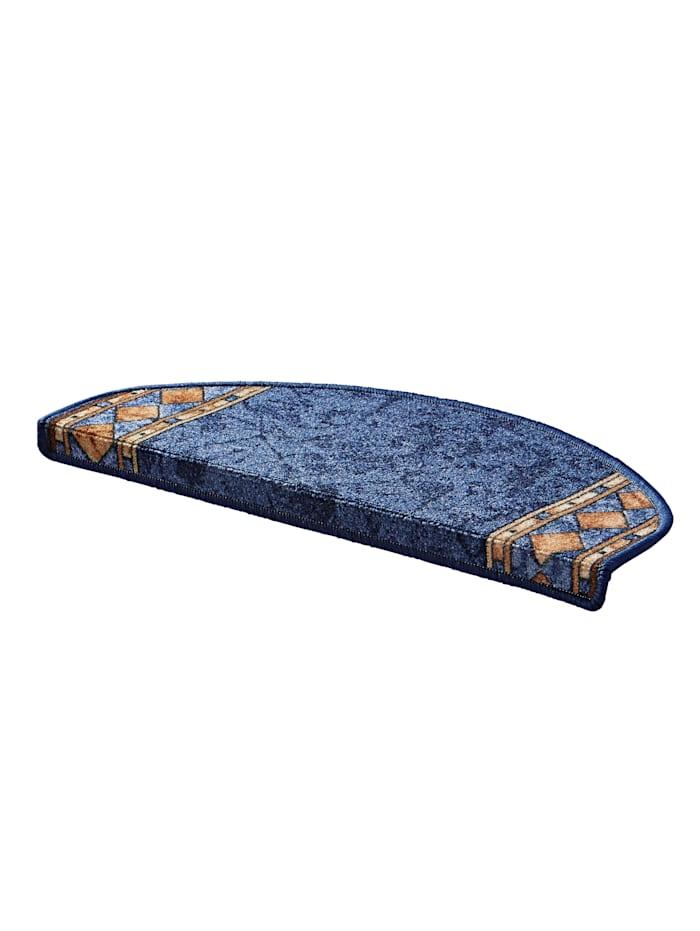 Floordirekt Läufer und Stufenmatten gewebt Oskar, Blau