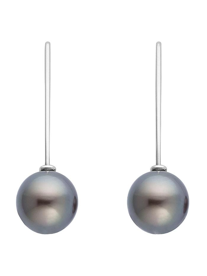 CHRIST Pearls CHRIST Pearls Damen-Ohrhänger 925er Silber 2 Tahiti, grau