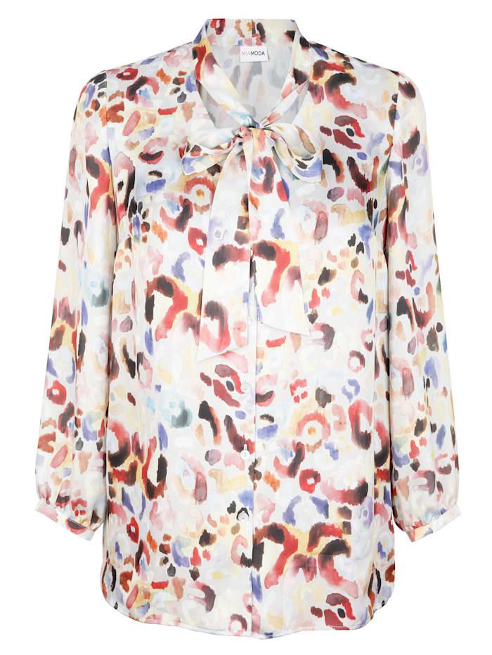 MIAMODA Bluse mit Schluppe, Multicolor