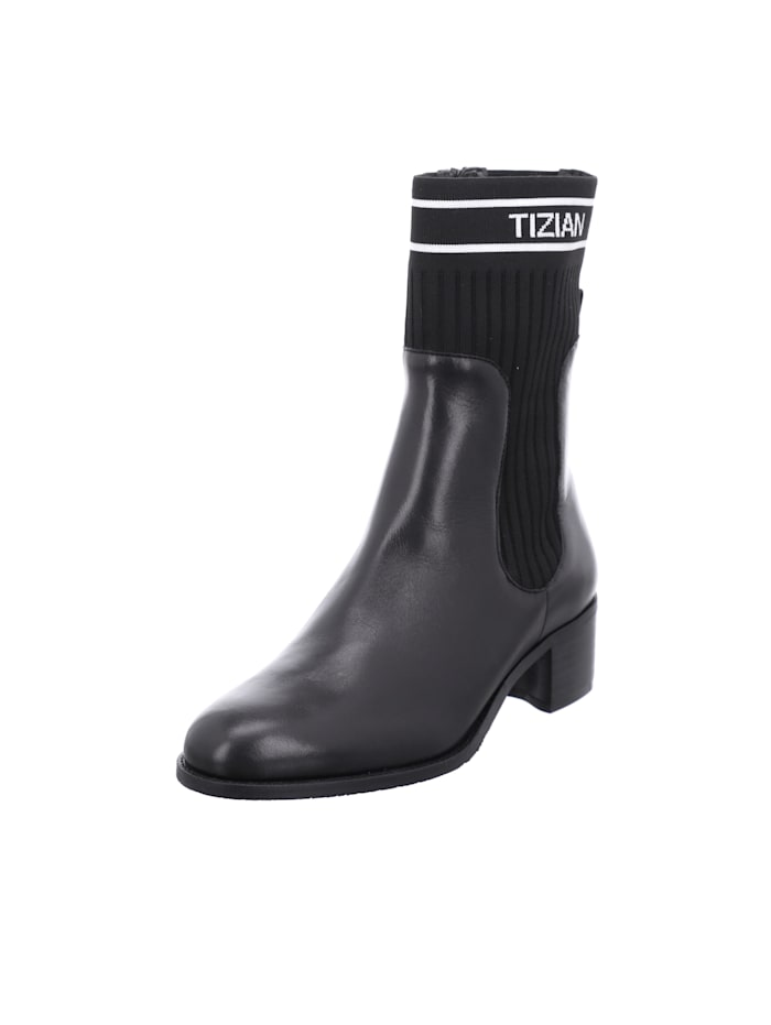 Tizian Tizian Damen-Stiefelette Bristol 06, schwarz-weiss, schwarz-weiss