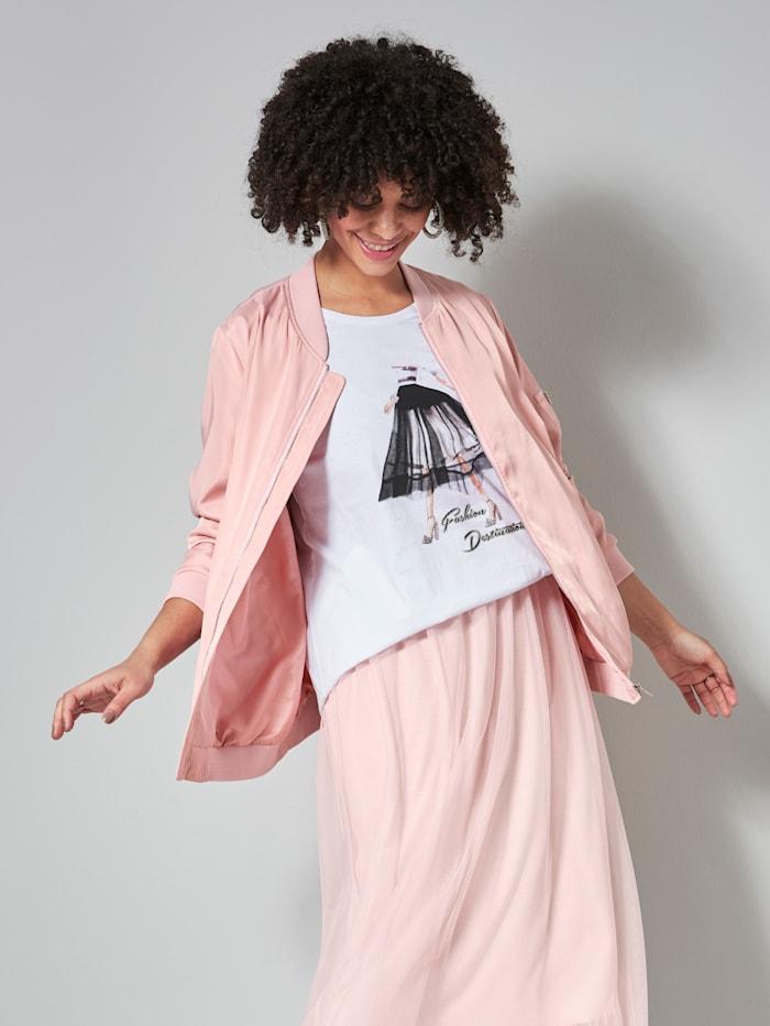Angel of Style Blouson mit modischen Details, Rosé
