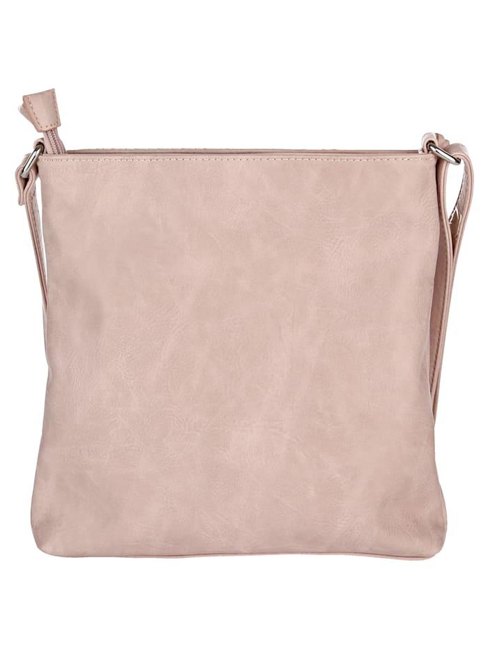 Shoulder bag made of embossed soft material