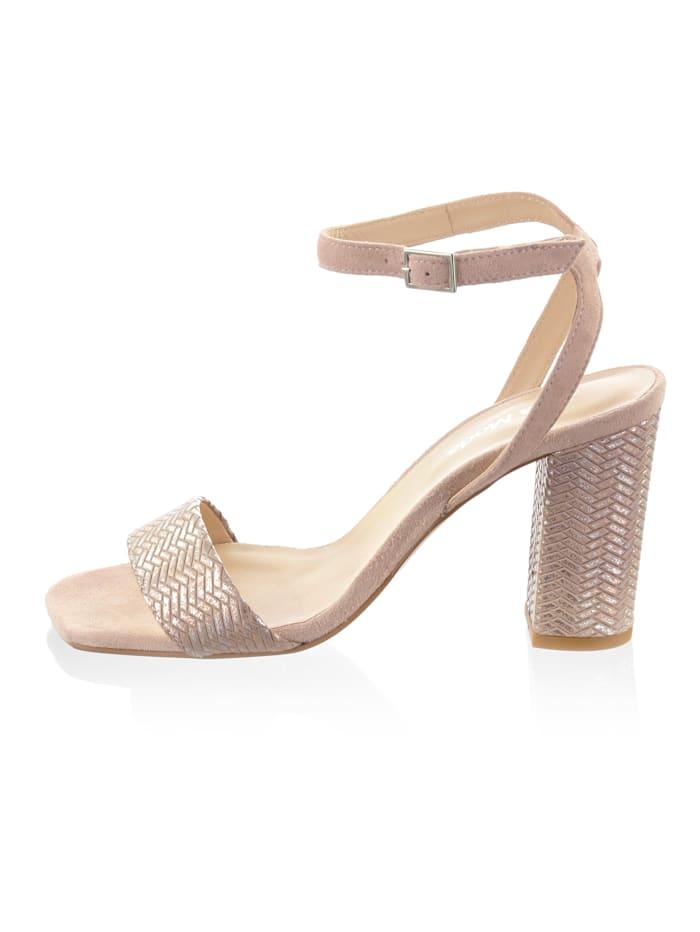 Sandaaltje van geitenleer