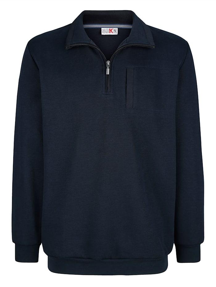 Roger Kent Sweatshirt med kontrasterande detaljer, Marinblå