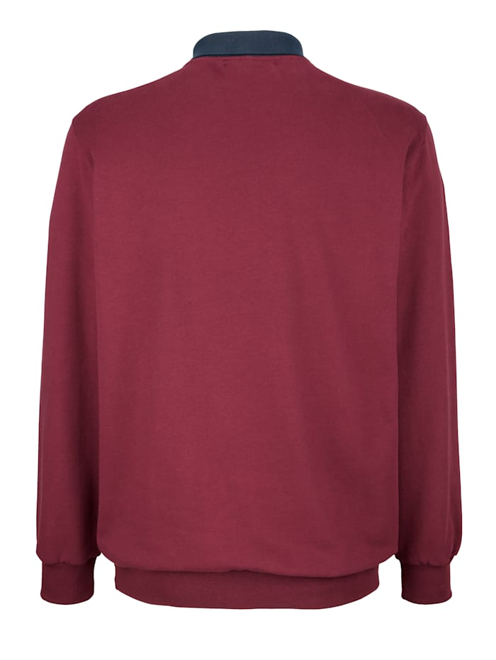 Sweatshirt met contrastkleurige details