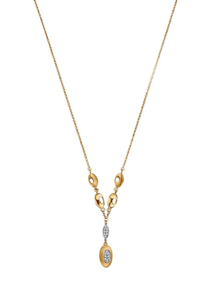 Diemer Gold Collier in Gelbgold 585, Weiß