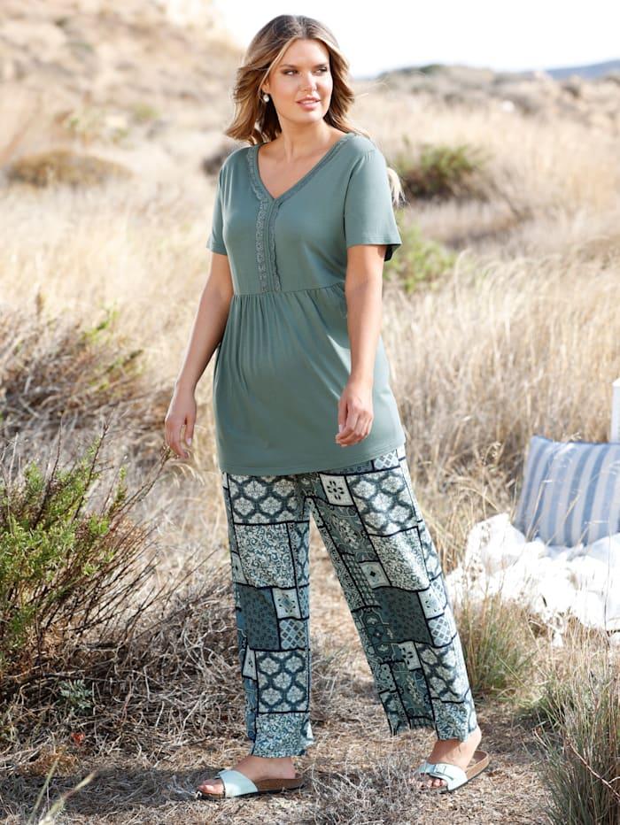 Jersey-Hose mit grafischem Muster allover