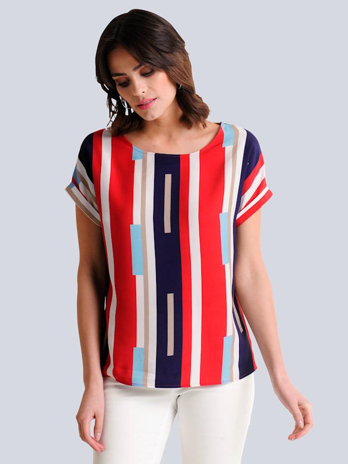 Alba Moda Blusenshirt im exklusiv designten Print, Orange/Multicolor