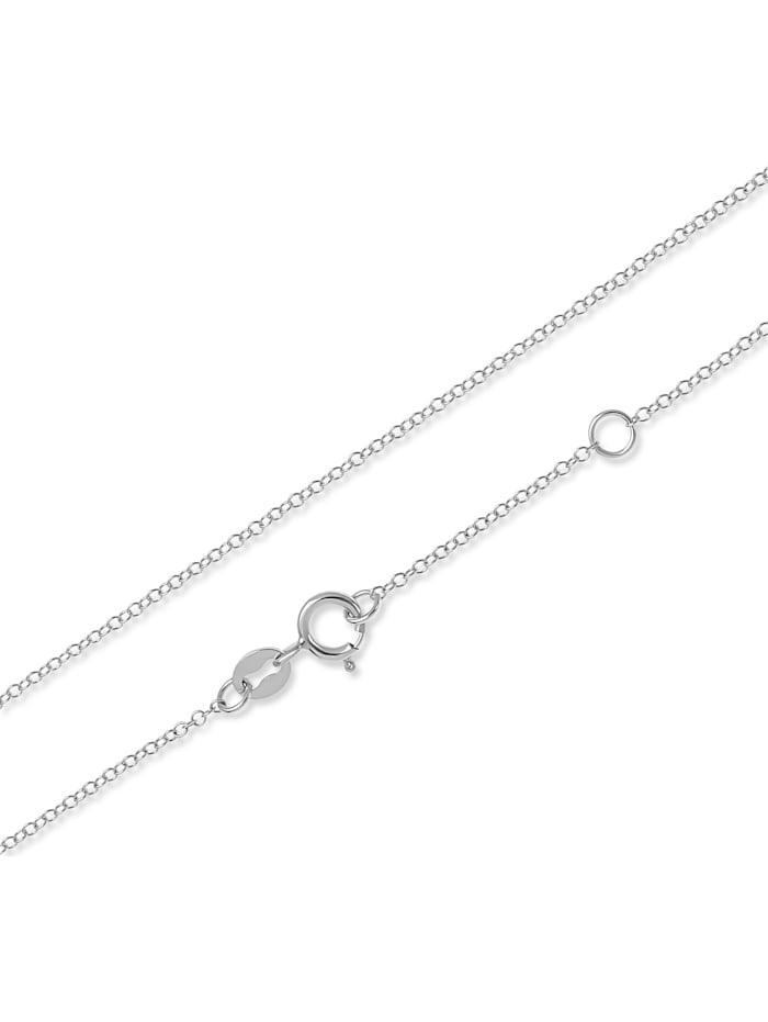 CHRIST Damen-Kette 375er Weißgold 9 Diamant