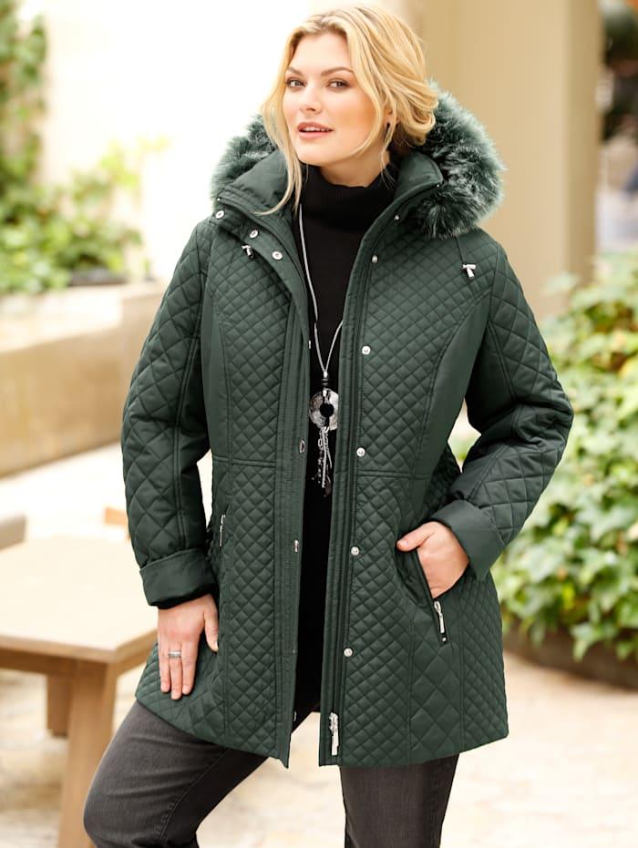 m. collection Gewatteerde jas met afneembare capuchon, Groen