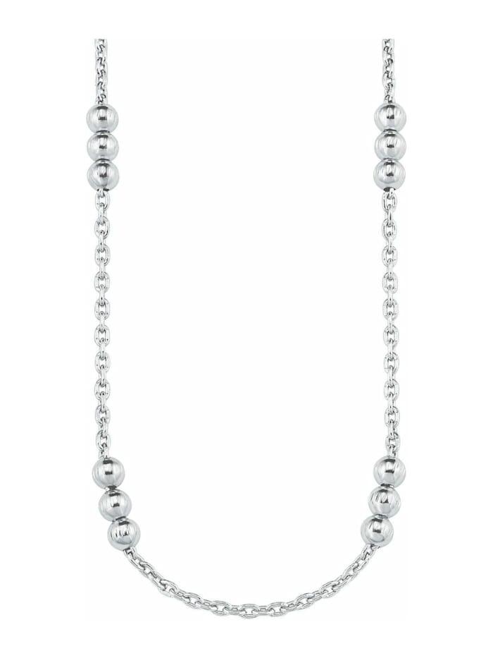 s.Oliver Halskette für Damen, Sterling Silber 925, Kugel, Silber