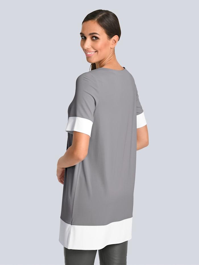 Shirttunika in asymetrischer Schnittführung