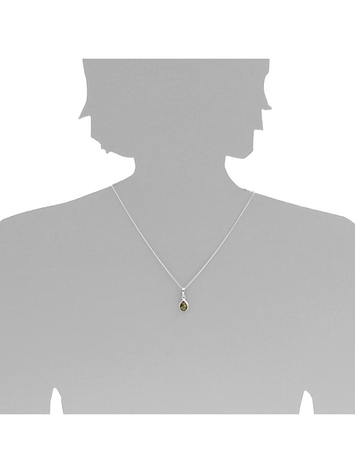 Kette mit Anhänger - Enela - Silber 925/000 - Bernstein
