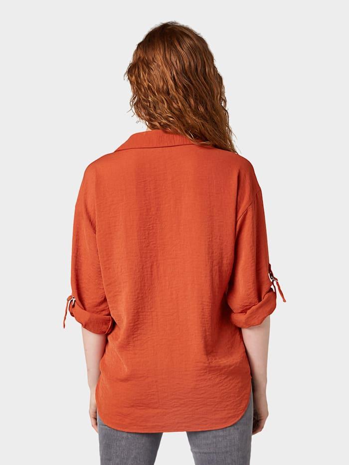 Oversized Bluse mit Turn-Up-Details