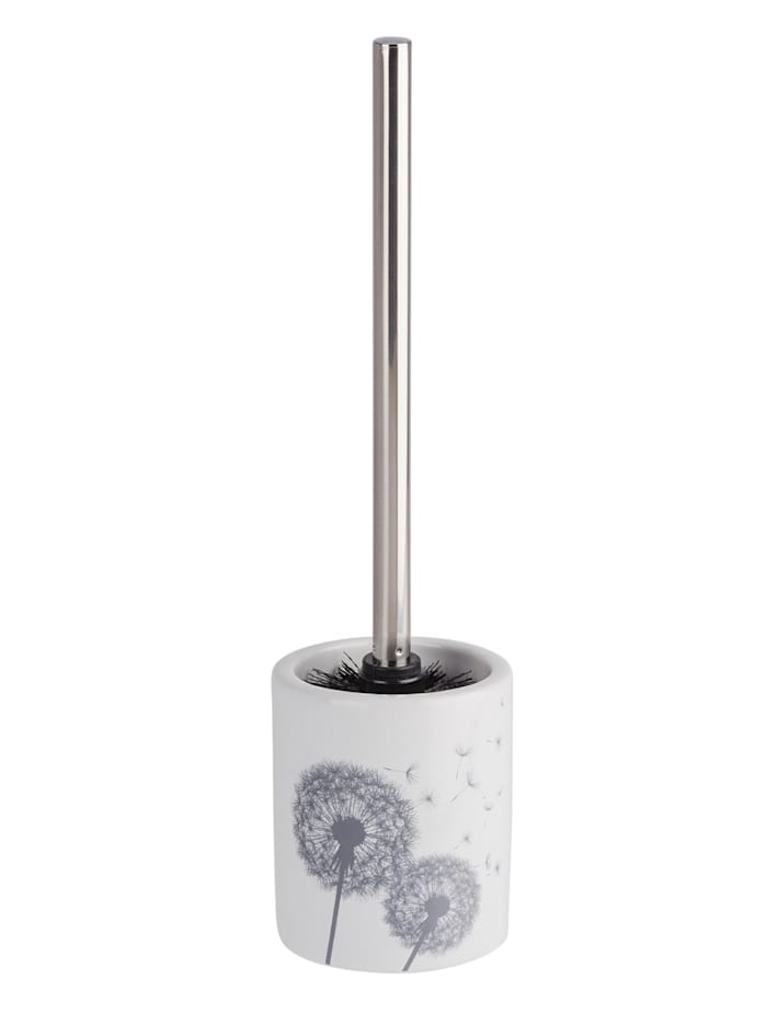 Wenko WC-Garnitur Astera Keramik, Weiß, Grau