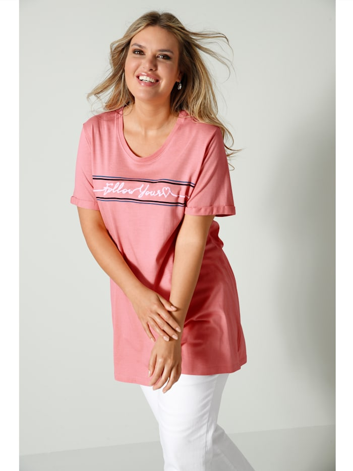 Janet & Joyce Shirt aus reiner Baumwolle, Lachs
