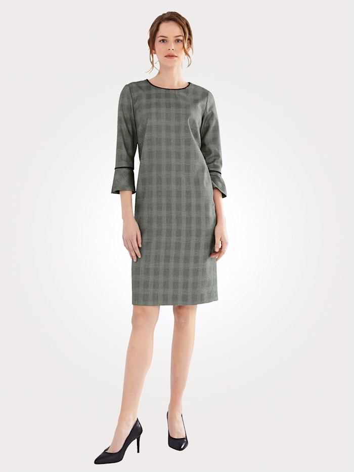 Kleid mit klassischem Schwarz/Weiß Karo