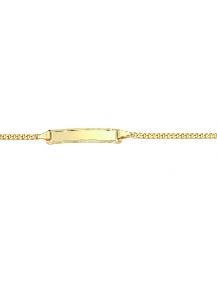 1001 Diamonds Damen Goldschmuck 333 Gold Flach Panzer Armband 14 cm Ø 2,1 mm, gold