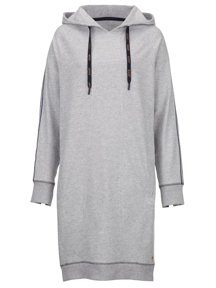 Longline hooded jumper with stylish contrast detailing