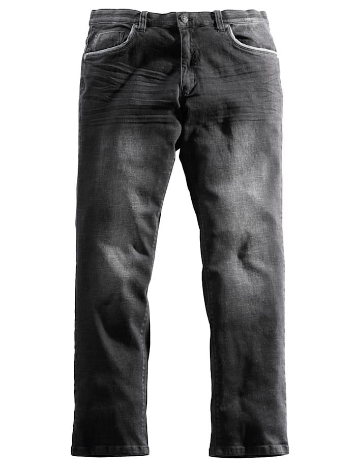Men Plus Jeans mit Comfortstretchbund, Schwarz