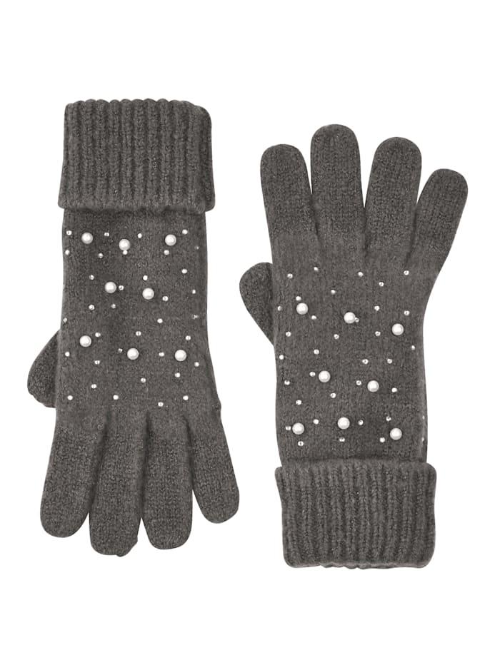Handschuhe mit Perlen-Deko