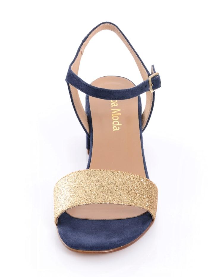 Sandaletten mit Glitzerriemen