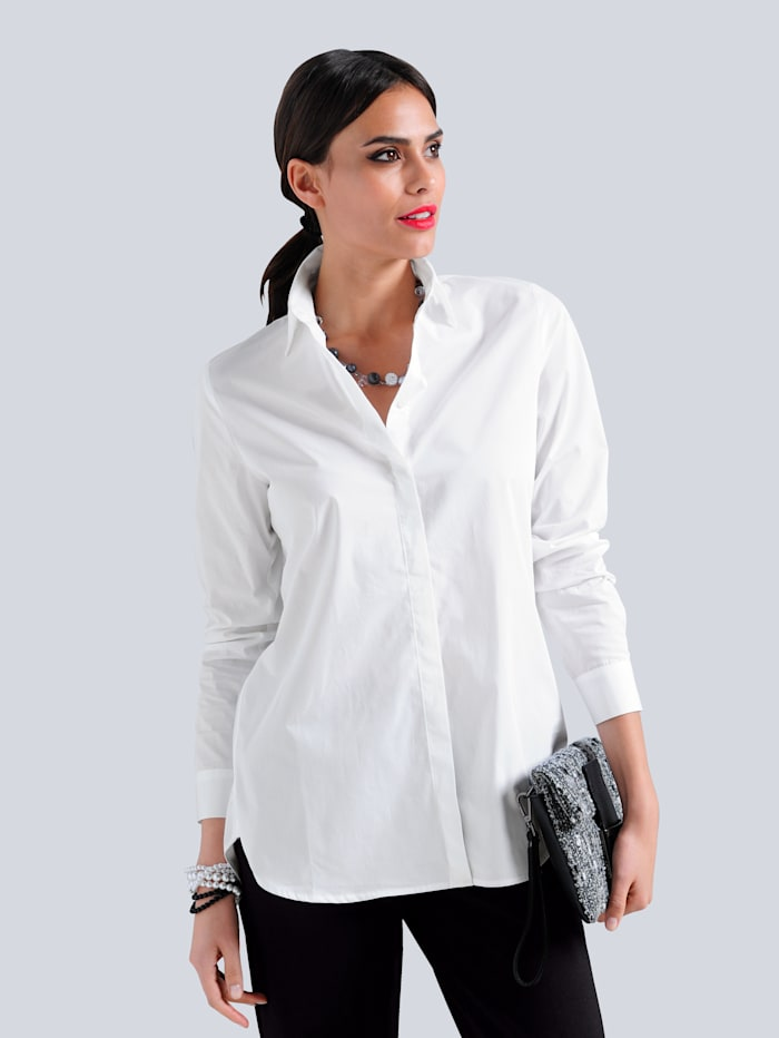 Alba Moda Bluse in Oversized Form, Weiß