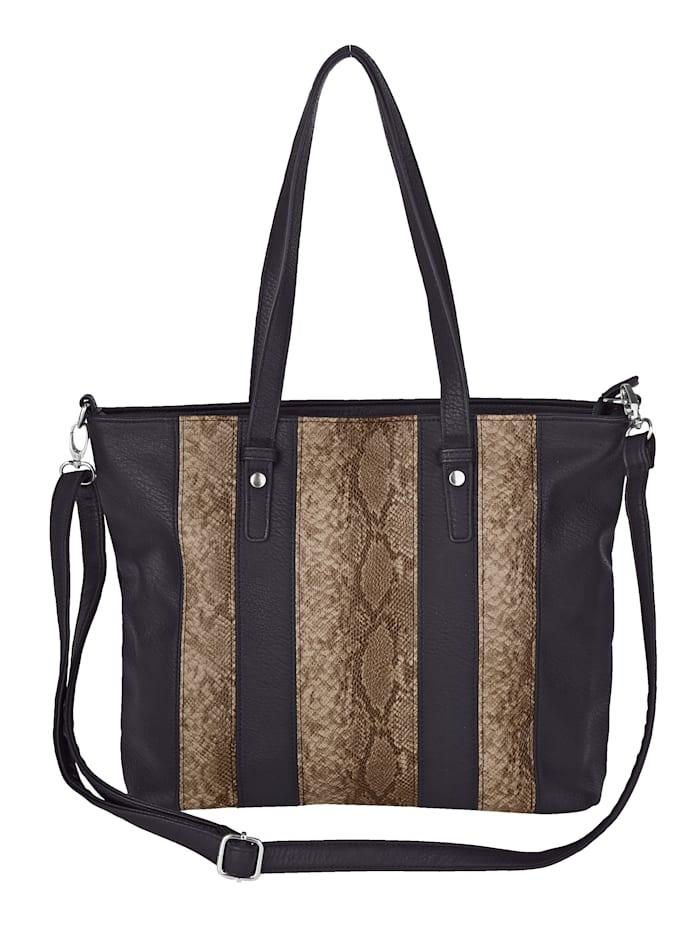Aimée Shopper aus hochwertigem Softmaterial, schwarz/braun/schl