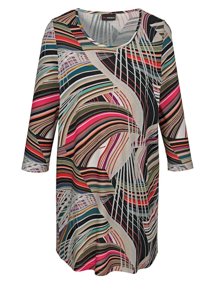Longshirt met kleurrijke print allover