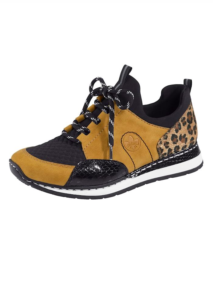 Rieker Sneaker mit elastischem Einschlupfbereich, Schwarz