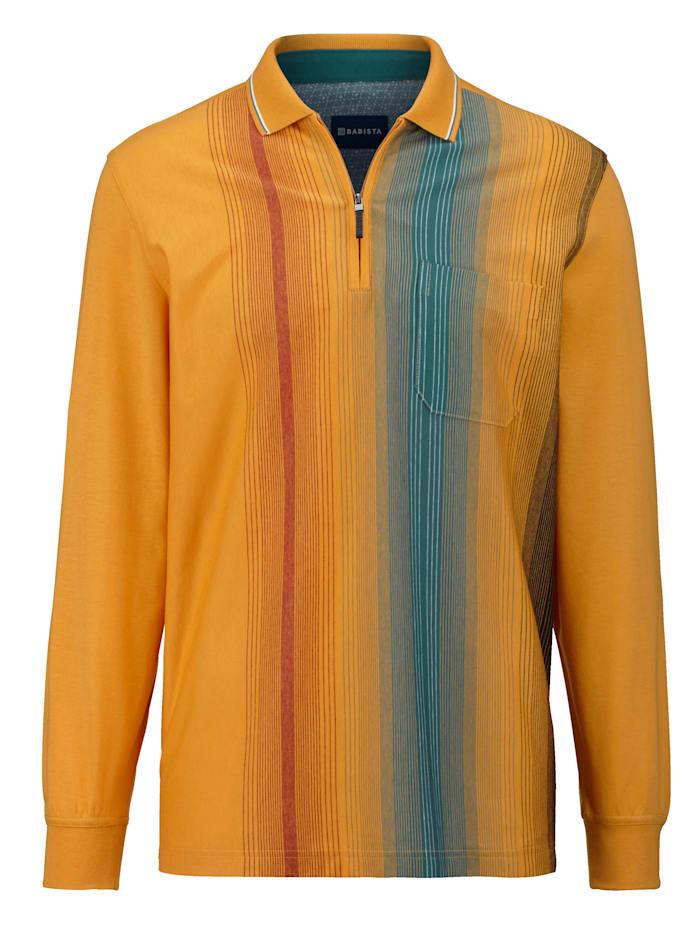 BABISTA Poloshirt van strijkvrij materiaal, Mais