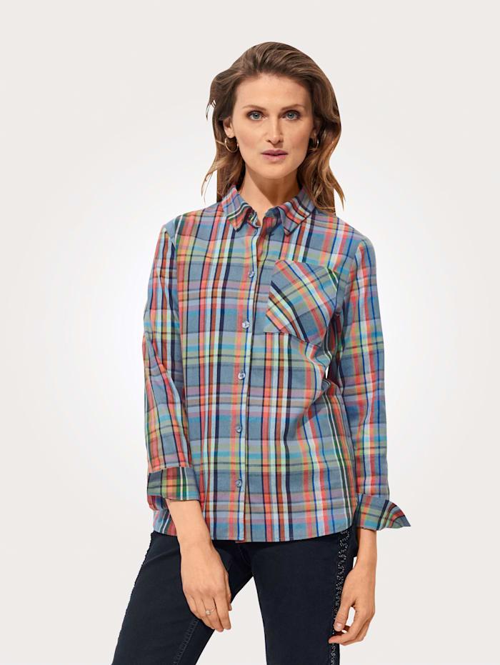 MONA Hemdbluse aus Webkaro, Multicolor
