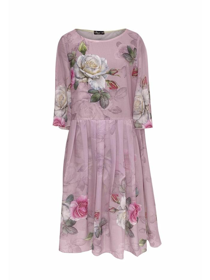 Wisell Sommerkleid Midikleid mit Blumenprint, rosa