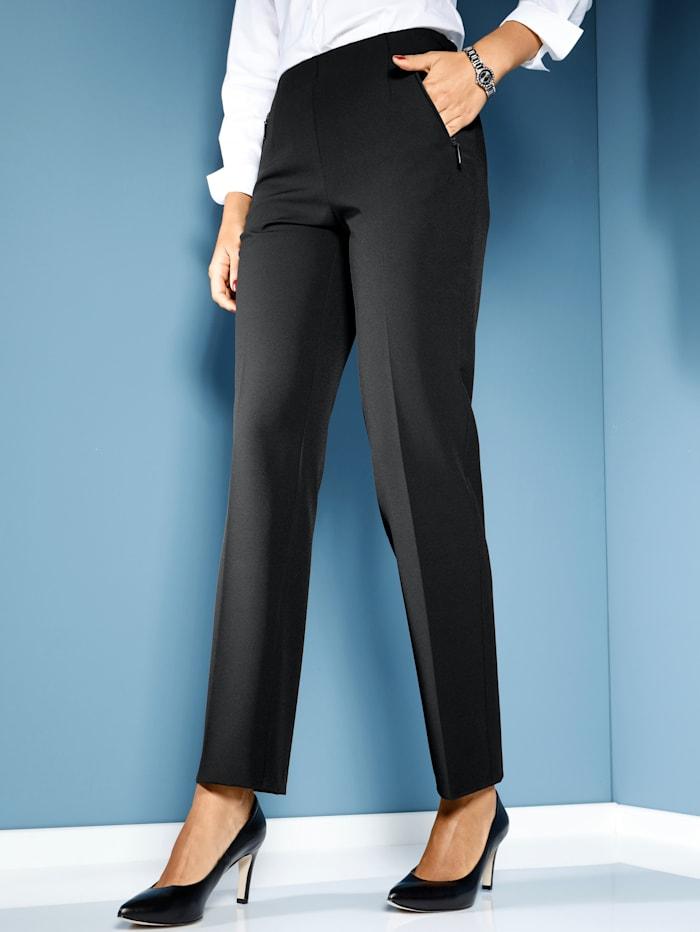 MIAMODA Pantalon très extensible, Noir