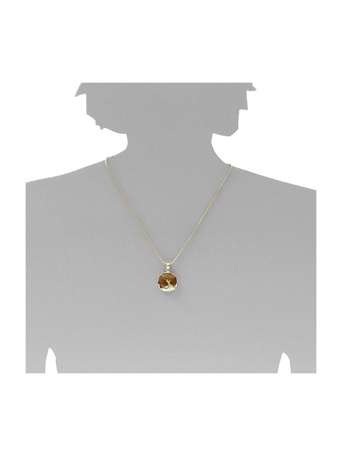 Kette mit Anhänger - Vika - Gold 333/000 - Bernstein