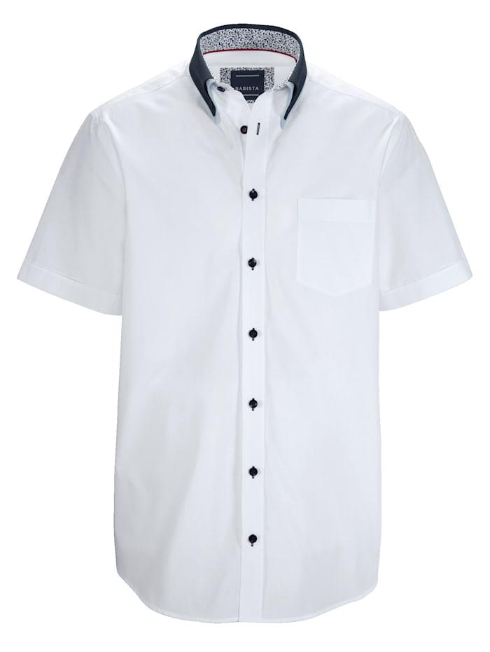 BABISTA Overhemd met dubbele kraag, Wit