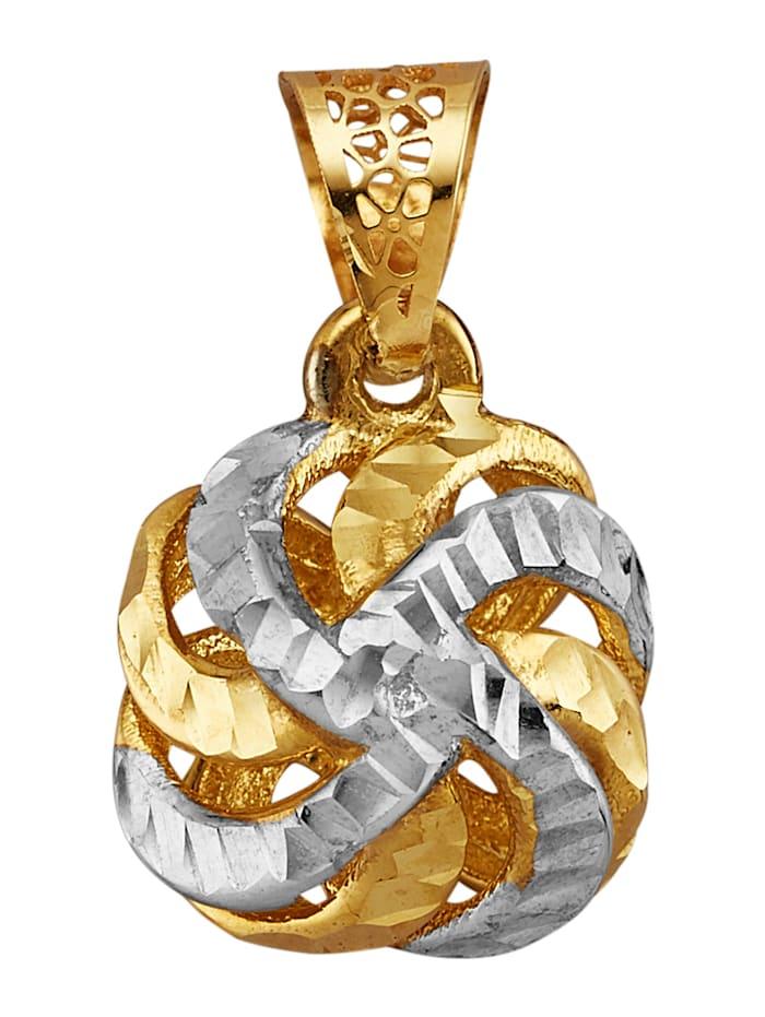 Diemer Gold Hanger Knoop van 14 kt. goud, Geelgoudkleur