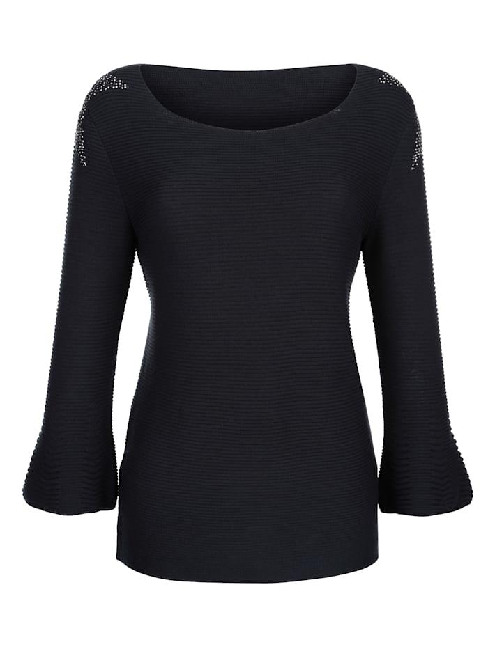 Pullover mit Sternenapplikation an den Schultern