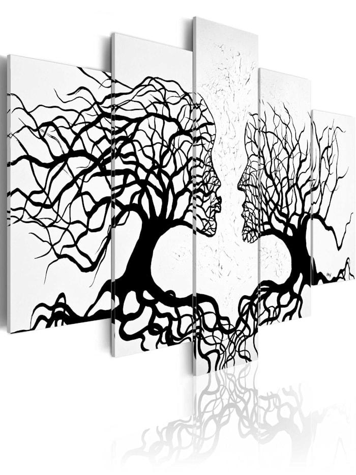 artgeist Wandbild The Kiss of the Wind, schwarz-weiß