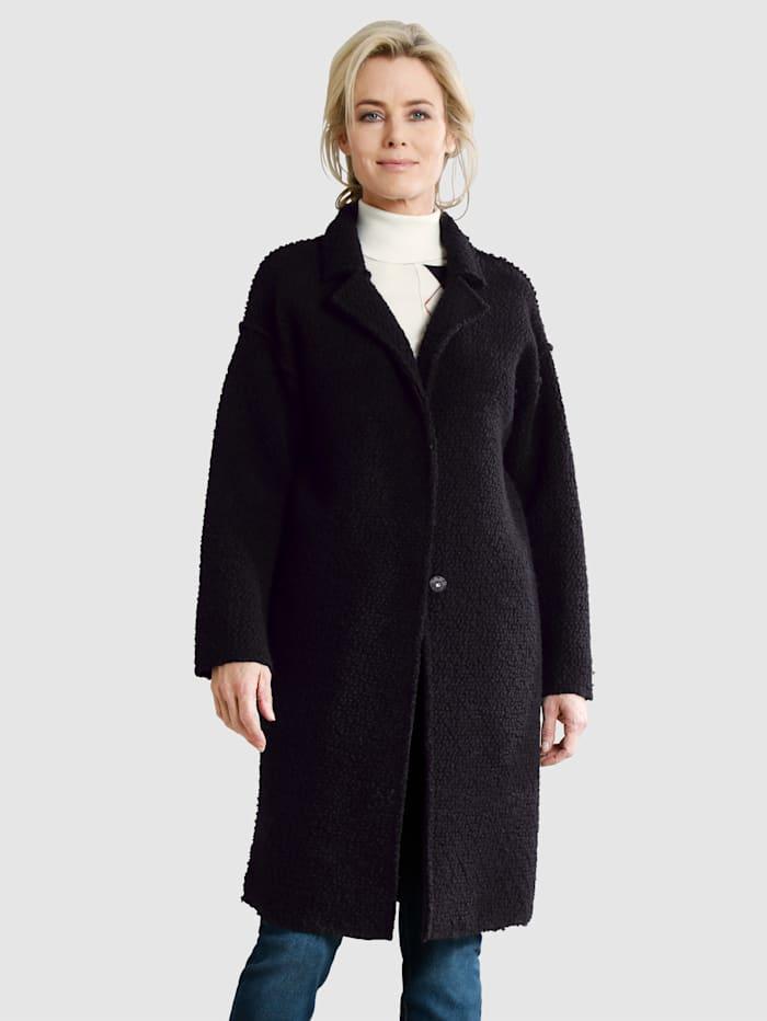 Dress In Wolljacke mit Knöpfen, Schwarz