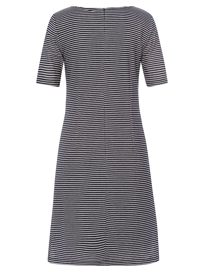 Jerseykleid, Streifen-Struktur, marine/ecru