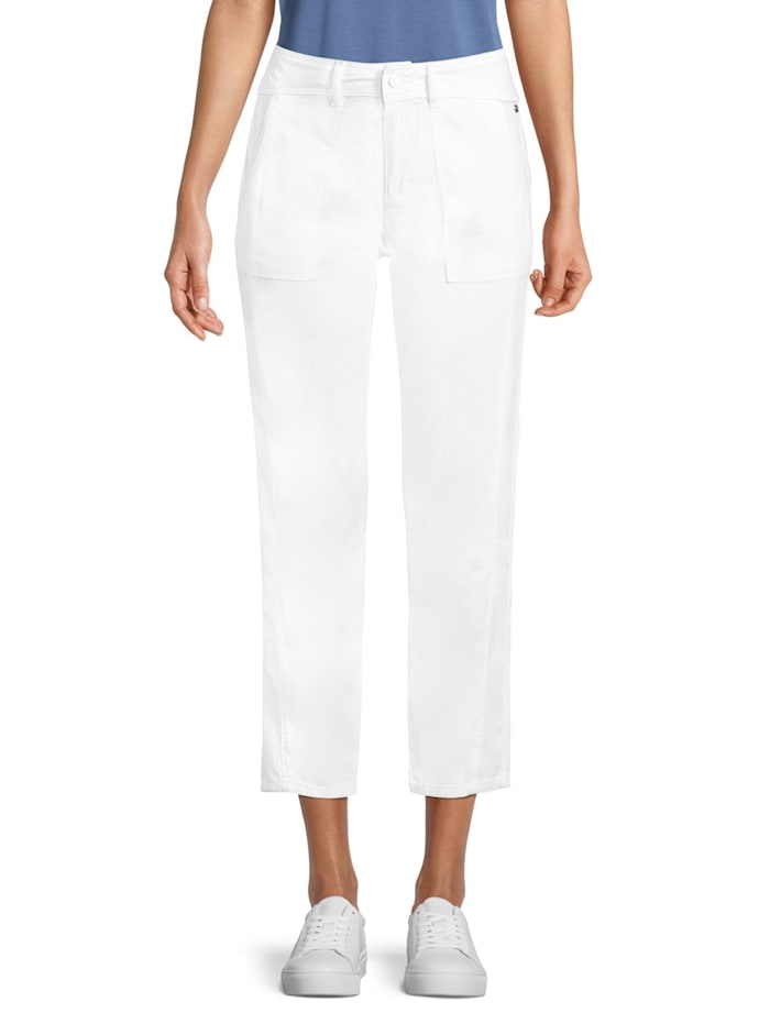 Betty & Co Casual-Hose mit aufgesetzten Taschen, Weiß